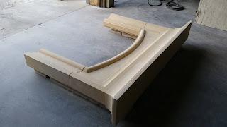Custom cream limestone fireplace surround