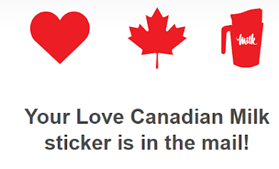 Free Canadian Milk Sticker + Chance to WIN