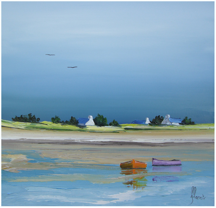 Reflexo - Frédéric Flanet e suas belas pinturas com paisagem de praias