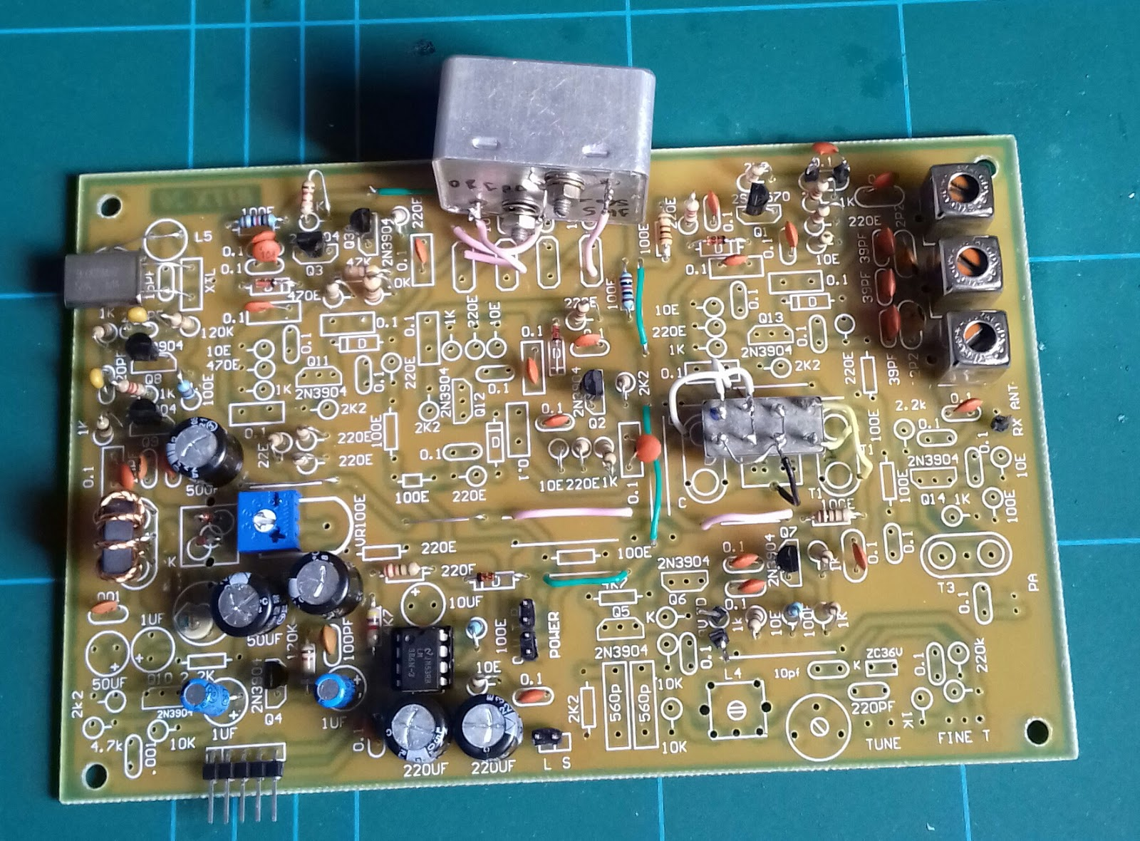 The Speaky Hf Ssb Transceiver And Other Homebrew Projects 50 Mhz Simple Fm Transmitter With 2n3904 I Found It More Convenient To Buy Board From India Instead Of Making Dead Bug Still Changed First Mixer An Sbl 1 Crystal Filter