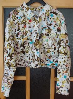 Jacheta florala din denim by ULLA POPKEN