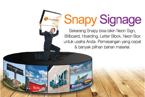 Jasa Neon Box dari Snapy