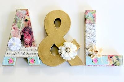 Noivado DIY, letras iniciais dos noivos!