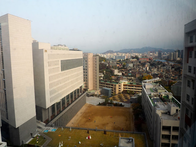 View from guest room in Chung-Ang university, Seoul