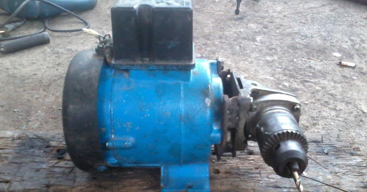 Modifikasi Bekas Pompa Air Menjadi Mesin Bor Tangan