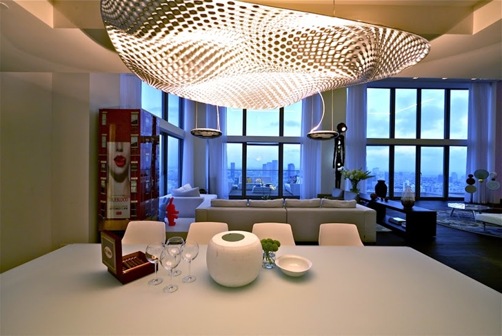 Dining room in the penthouse