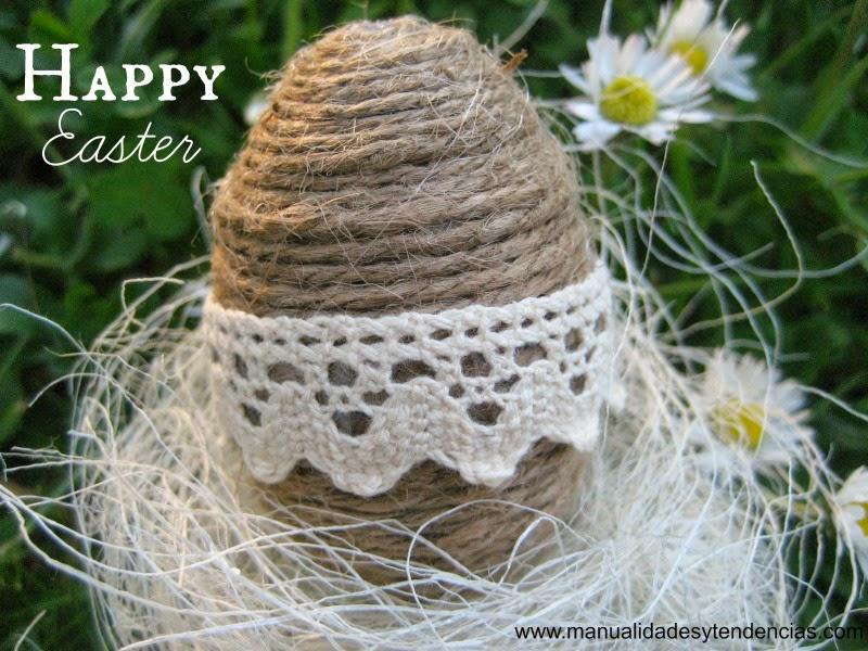tutorial huevo de Pascua de poliespan / styrofoam Easter egg DIY / oeuf de Pâques