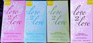 Love 2 Love: Fresh Rose + Peach, Bluebell + White Tea, Jasmine + Sparkling Mimosa, Freesia + Violet Petals