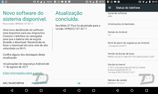 Moto G5 Plus gets August Security Patch in Brazil