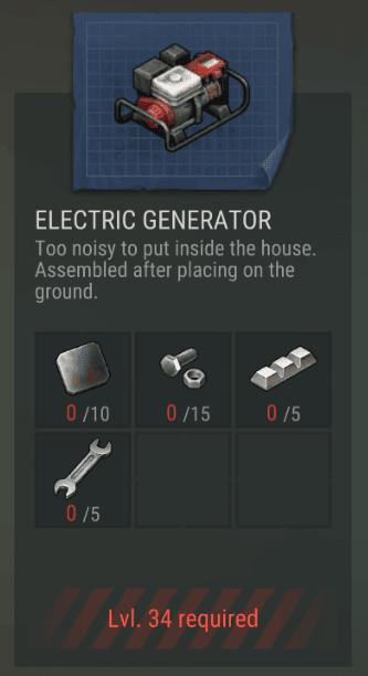 Crafting Electric Generator