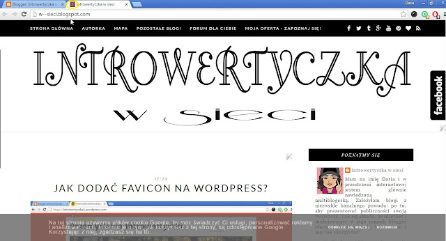 Jak wstawić favicon na bloggerze?