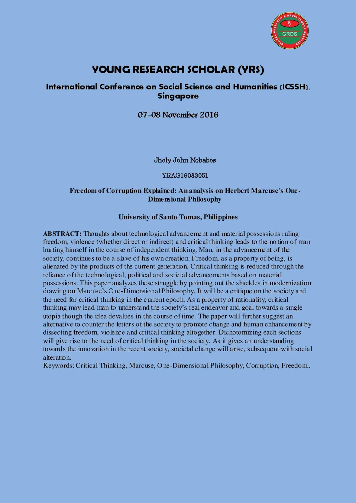 Global Association for Humanities and Social Science Research
