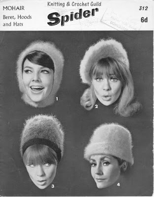1940s vintage knitting pattern; woman's beret, hood & hats in mohair