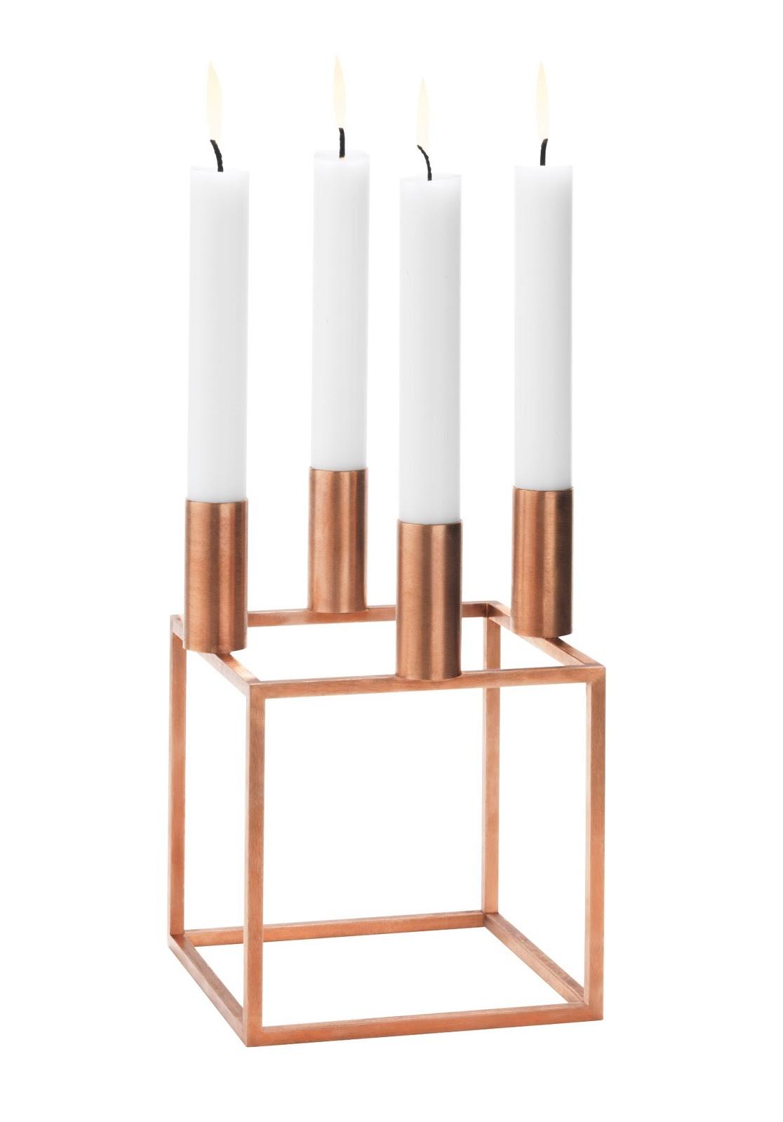 nordic blends iconische kubus 4 kandelaar nu in koper. Black Bedroom Furniture Sets. Home Design Ideas