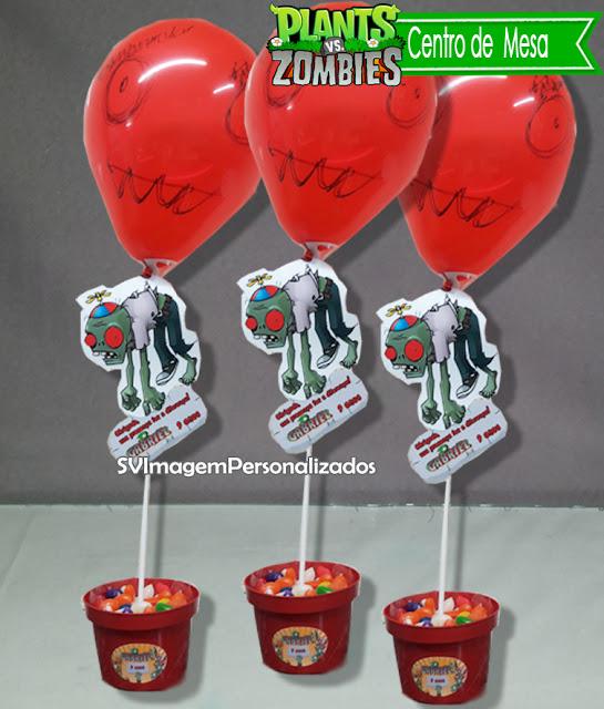O preço mais barato para centro de mesa no tem plants vs zombie Novidade super criativa, para centro de mesa,  um vaso com suporte de bexiga + o zombie ballon, na sua festa é uma ótima ideia para decorar sua festa.