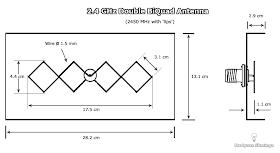 Double BiQuad sector antenna for 2 4 GHz: i1wqrlinkradio com