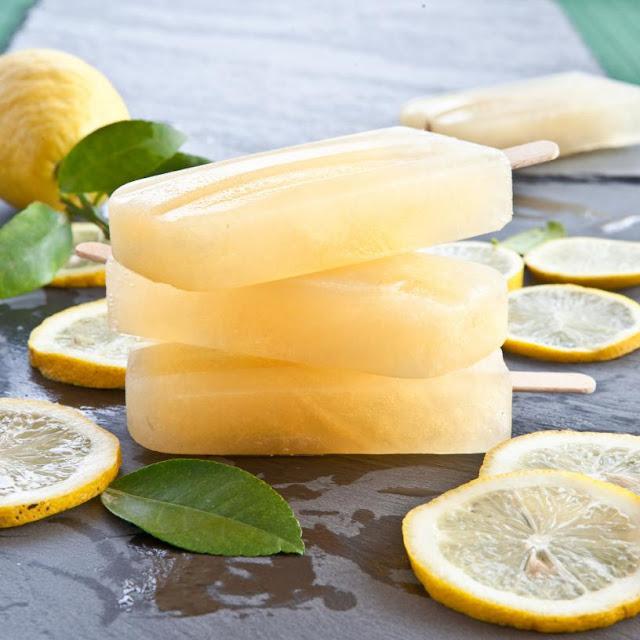 Sucettes glacées au citron