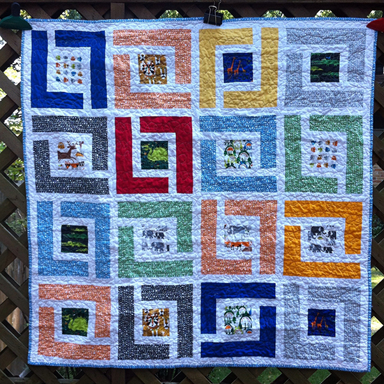 Jungle Path Baby Quilt designed by Jessica Kelly of SewCraftyJess