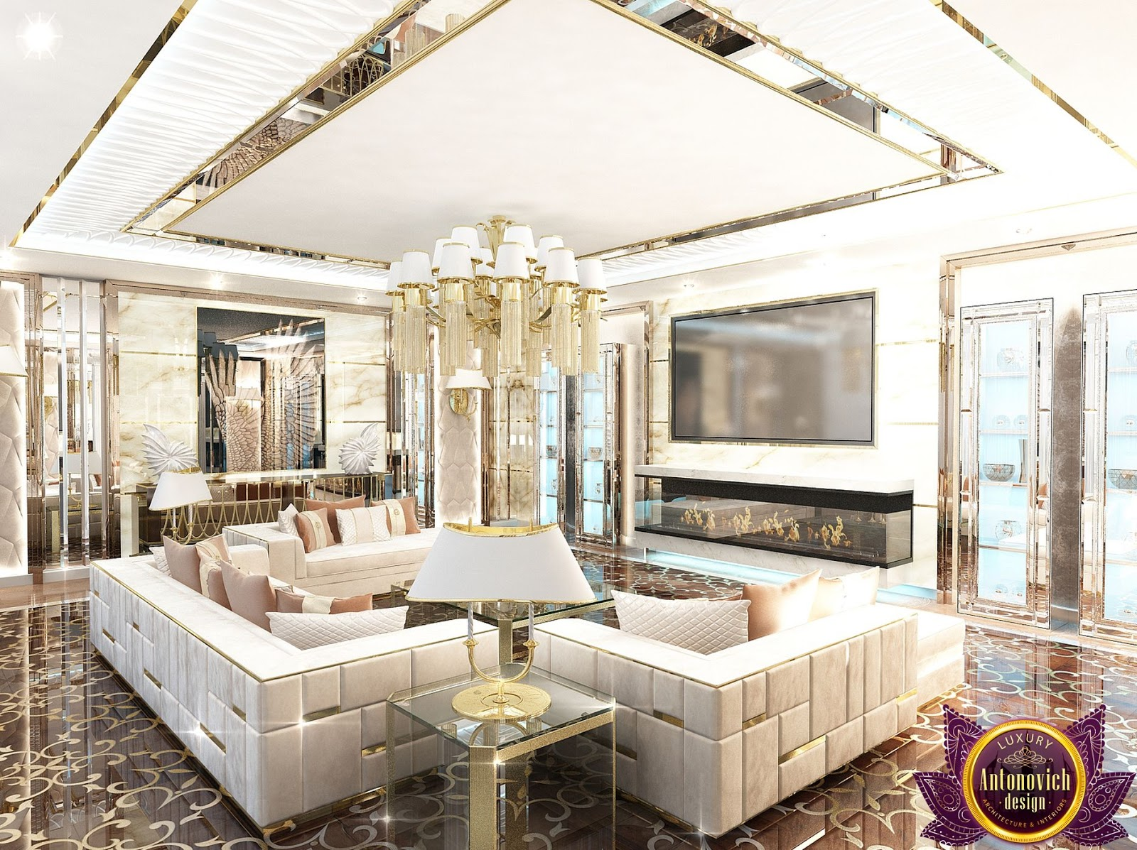 LUXURY ANTONOVICH DESIGN UAE: Luxury living room design ideas of ...