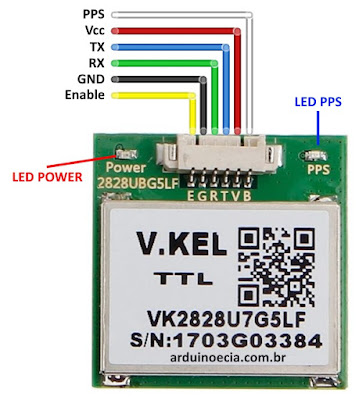 Pinagem módulo GPS VK2828U7G5LF
