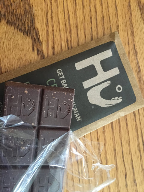 Hu Kitchen Dark Chocolate Crunchy Mint Bar from my Degusta Box