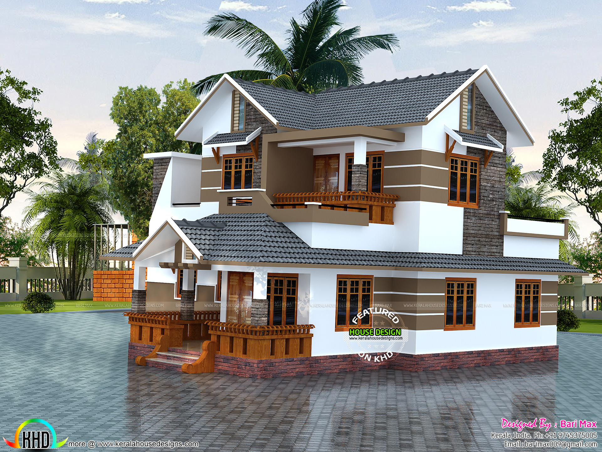 Low budget slop roof style home kerala home design and for Budget home designs in kerala