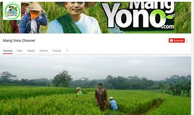 Channel YouTube MANG YONO yang baru
