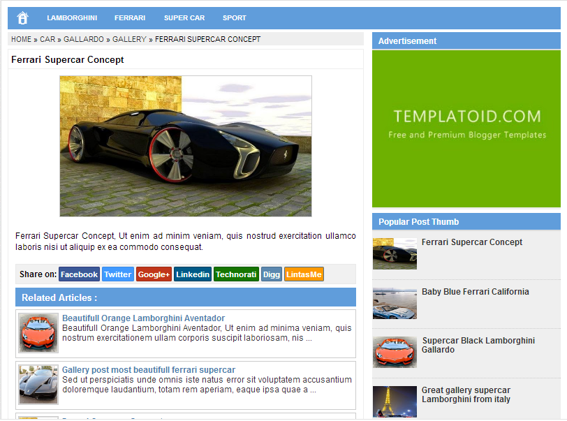 Blogger Template SimpleSense by Templatoid Seo Friendly ...