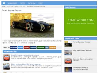 Blogger Template SimpleSense by Templatoid Seo Friendly