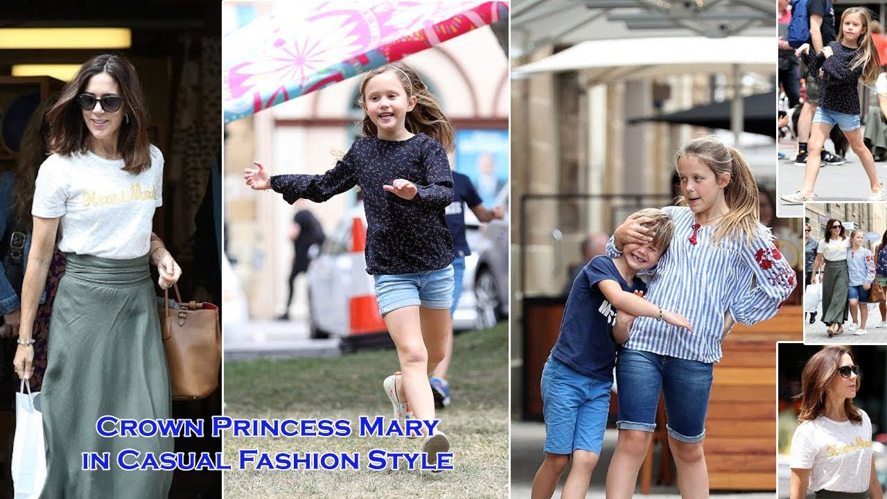 Crown Princess Mary in Casual Style Joins her Children for