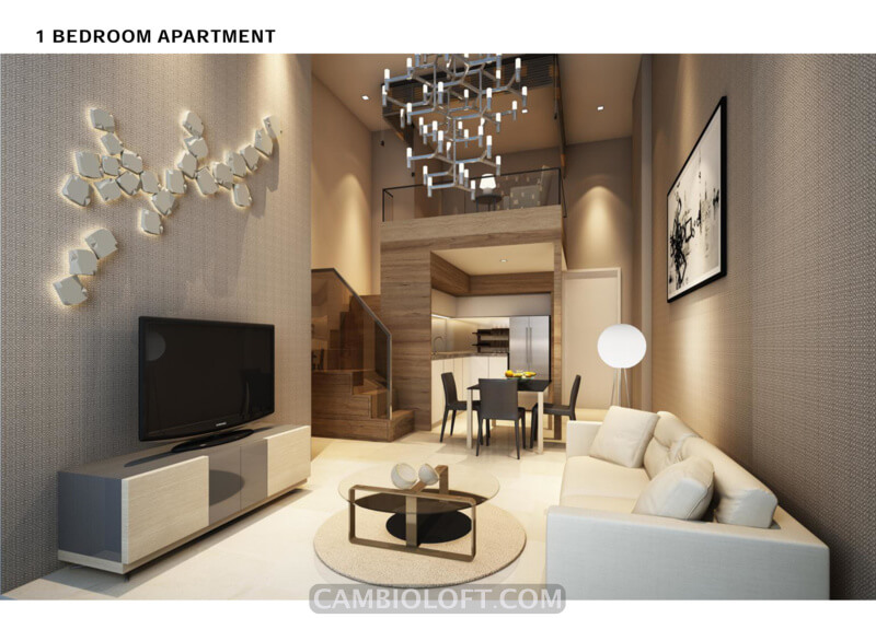 1BR Type Cambio Lofts Alam Sutera Apartment