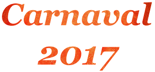 Palavra Carnaval e 2017 png