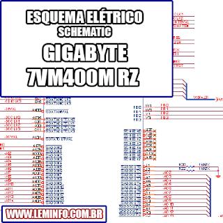 Esquema Elétrico Placa Mãe GIGABYTE 7VM400M RZ REV 1.0 Motherboard Manual de Serviço  Service Manual schematic Diagram Placa Mãe GIGABYTE 7VM400M RZ REV 1.0 Motherboard      Esquematico Placa Mãe GIGABYTE 7VM400M RZ REV 1.0 Motherboard