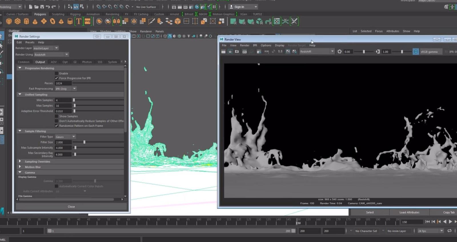 Houdini Sim to Rendering MotionBlur with Redshift in Maya | CG TUTORIAL