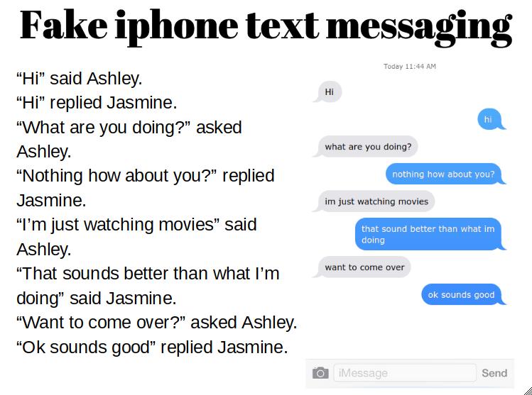 Sky : Fake iphone text messaging