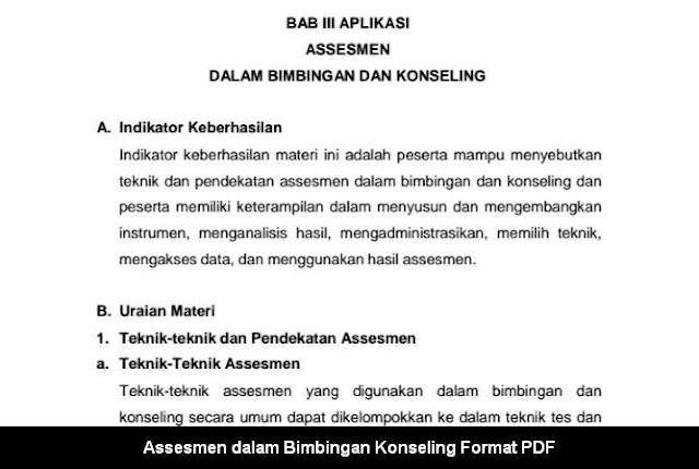 Assesmen dalam Bimbingan Konseling Format PDF