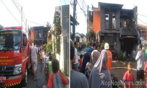 Satu Rumah Hangus Dilahap Si Jago Merah Di Gang Dewa Ciracas
