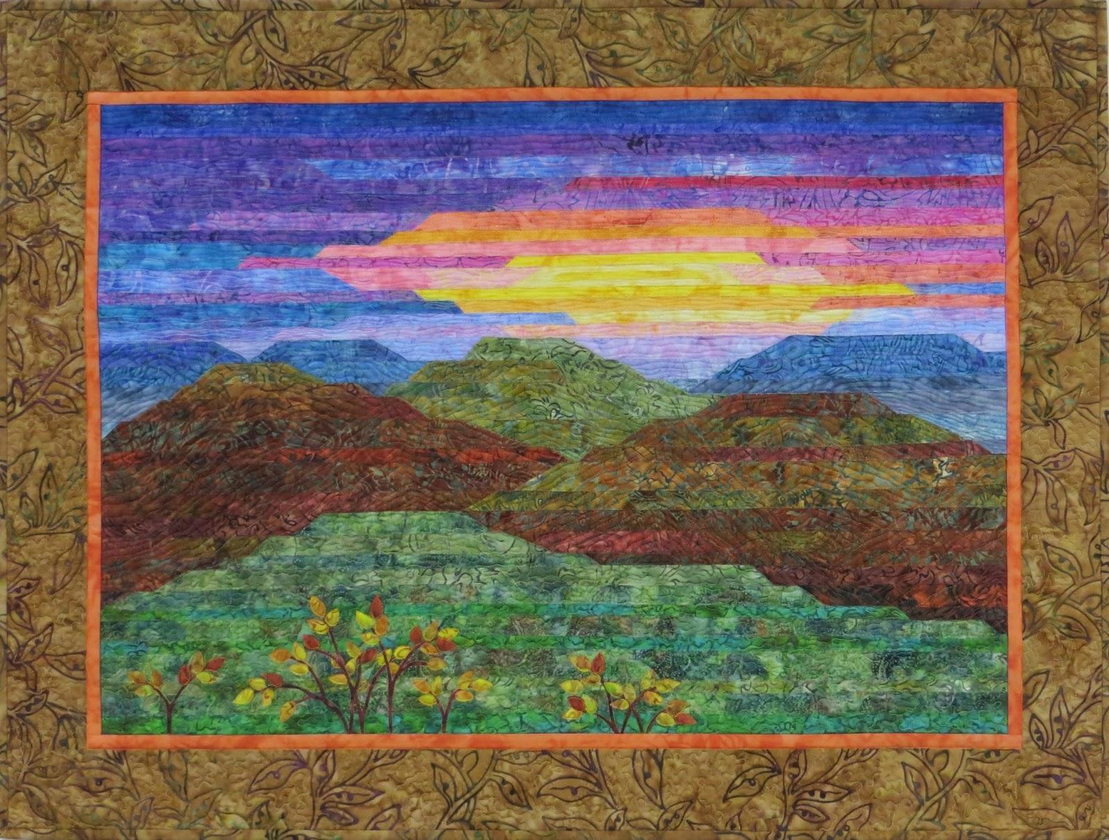 Landscape Quilt Patterns Magnificent Decorating