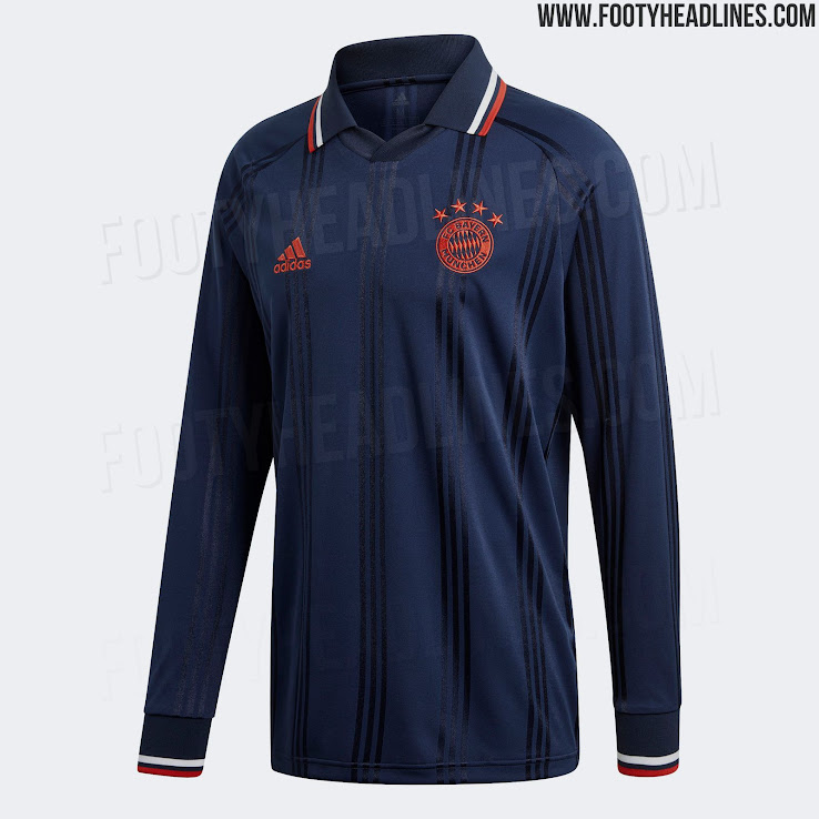 brand new 05a3a 4d770 Adidas Bayern München 19-20 Icon Long Sleeve Retro Jersey ...
