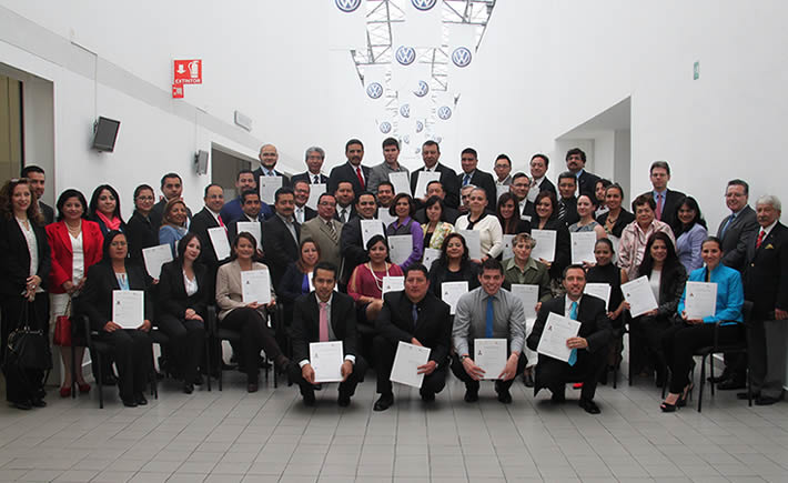 Avala Conocer certificados de Gestión Ambiental para personal de la armadora Volkswagen. (Foto: Cortesía Camexa)