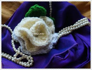 free crochet rose motif pattern