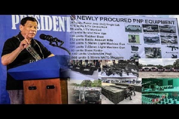 PRES DUTERTE BUMILI NG MGA BAGONG KAGAMITAN NG PNP PDEA AT AFP PARA SA MODERNIZATION!