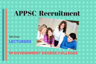APPSC Lecturer in Government Degree College