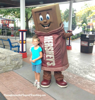 Hershey's Chocolate Bar Character at Hersheypark