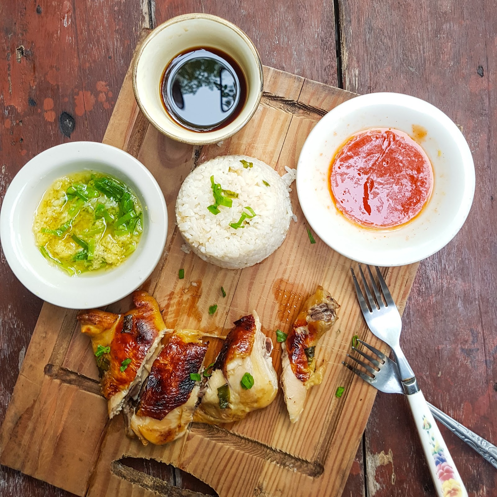 how to make hainanese roasted chicken