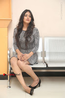Actress Chandini Chowdary Pos in Short Dress at Howrah Bridge Movie Press Meet  0164.JPG