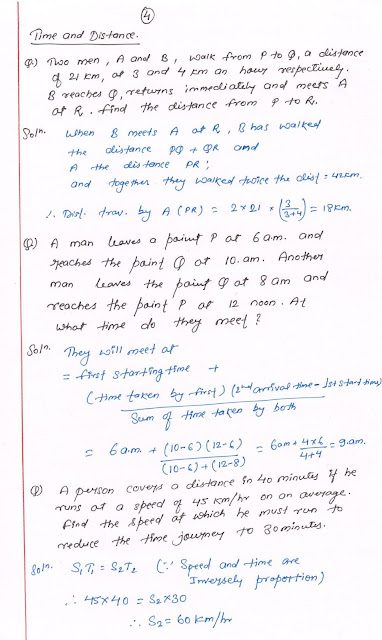 time and distance ssc cgl exam