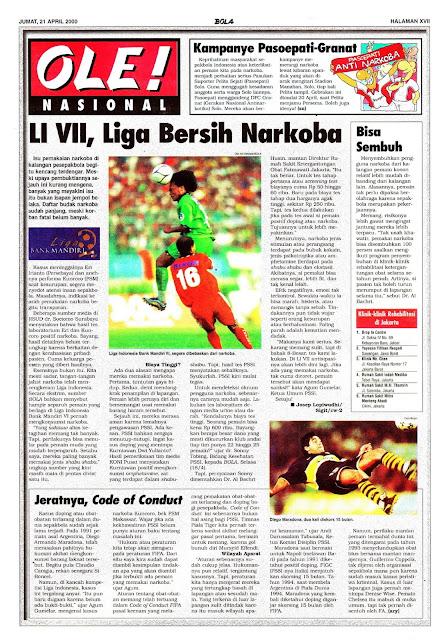 LIGA INDONESIA VII LIGA BERSIH NARKOBA