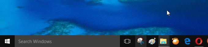 thu nhỏ thanh search trong taskbar windows 10