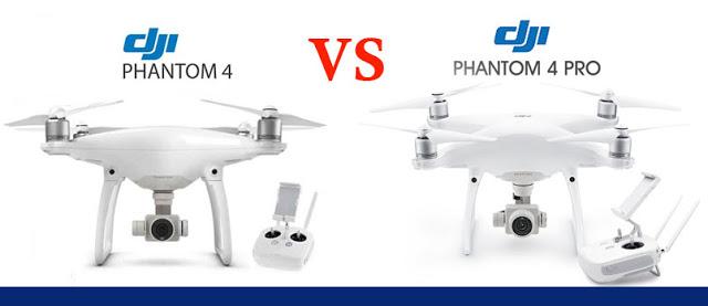 Perbedaan Dji Phantom 4 Standar VS Dji Phantom 4 PRO